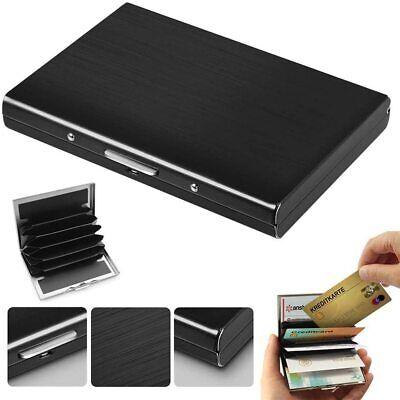Stainless Steel Wallet RFID Blocking Credit Card ID Holder Slim Money Travel Men