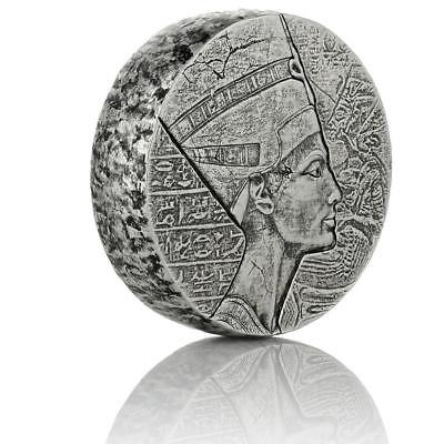 2017 5 oz Egyptian Nefertiti Silver Coin .999 Silver BU #A439