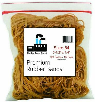 Rubber Band Depot Size 64 3-12 X 14 1 Pound Bag Made In Usa