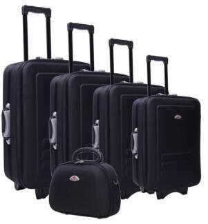 Black Luggage Set - 5 Piece