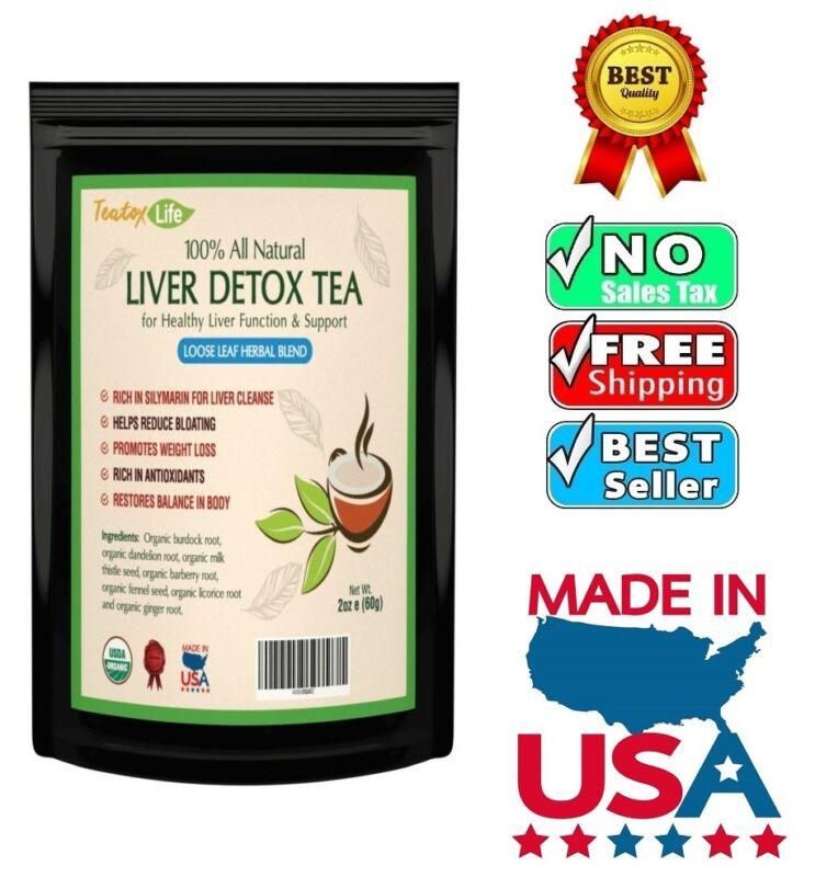 Liver Detox tea with burdock root, dandelion for liver clean