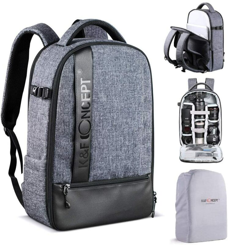 Large Camera Backpack Bag Laptop Waterproof for Canon Nikon Sony SLR K&F Concept