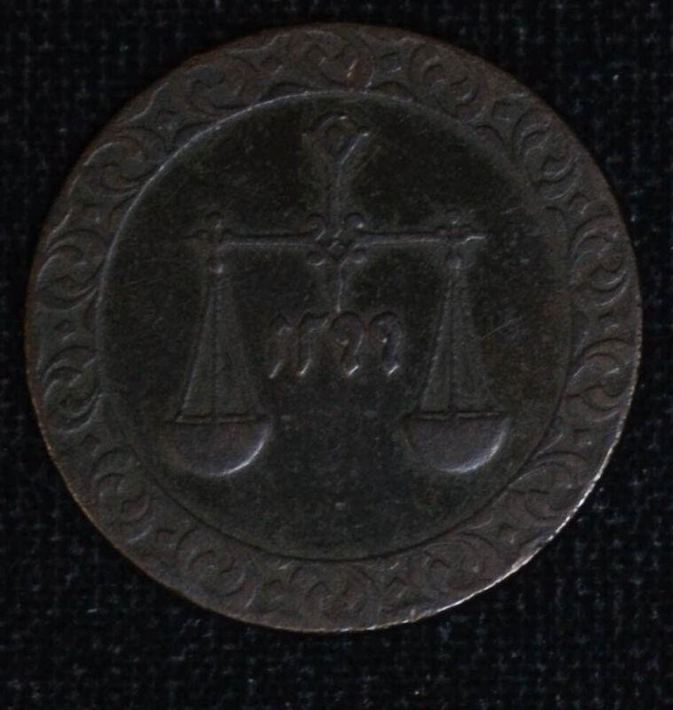 Zanzibar 1 Pysa AH1299 EF/AU copper KM#1 Beautiful Scarce Grade Sultanate