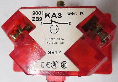 Square D 9001 KA3  N.C. Contact Block  Series. K
