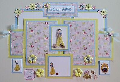 Premade Disney Scrapbook Page/Mat Set - Snow White #5