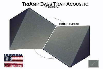 2 PACK, TriAmp Corner Acoustic Bass Trap for Studio Soundproofing 10 x 12 x 12 Acoustic Studio Bass Trap