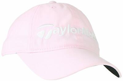 TaylorMade Golf Women's Ladies Core Relaxed Fit Adjustable Hat Cap - Pink Ladies Golf Caps