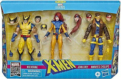 Marvel Legends X-Men Jean Grey, Cyclops, and Wolverine 6-In Action Figure 3-Pack