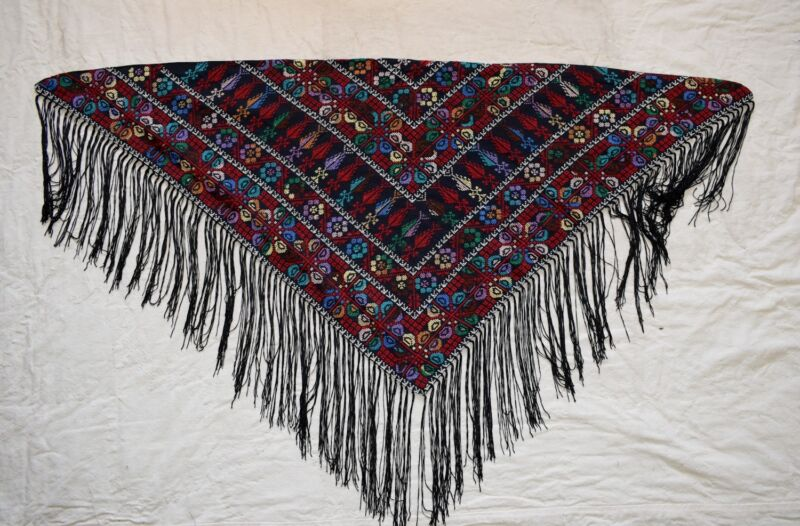 Hand Stitched embroidered Egyptian /  Palestinian Bedouin Wrap Shawl Scarf