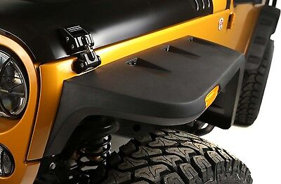 2007 2017 Jeep Wrangler Rugged Ridge Hurricane Flat Fender Flares Kit  11640.10