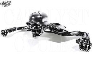 Chrome Skull Headlight Ornament for Harley 7