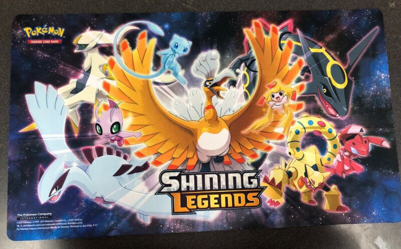Pokémon Official Shining Legends Playmat For Card Game TCG CCG. Go Ho-Oh!