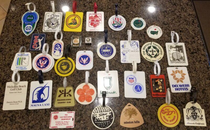 Vintage Golf Bag Tags / Memorabilia