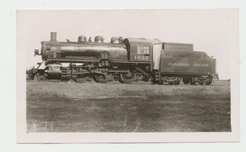 1950 CPRR Canadian Pacific Railroad 1023 4-6-0 Real Photo Sutherland Sask Canada
