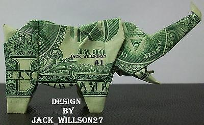DOLLAR BILL MONEY ORIGAMI ELEPHANTS 12 DESIGNS TO CHOOSE FROM*GREAT GIFT IDEA *