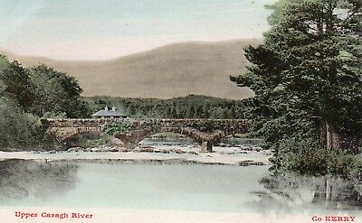 UPPER CARAGH RIVER CO KERRY IRELAND POSTCARD by LAWRENCE