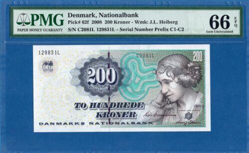 Denmark, 200 Kroner, 2008, Gem UNC-PMG66EPQ, P62f