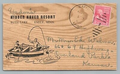 Haven Resort (Hidden Haven Resort RUTH LAKE Fishing EMILY MN Vintage Minnesota Crow Wing 1952)