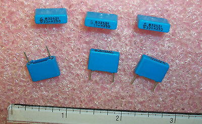 Qty 100 .033uf 250v 10 Metallized Polyester Capacitors B32521-a3333k Siemens