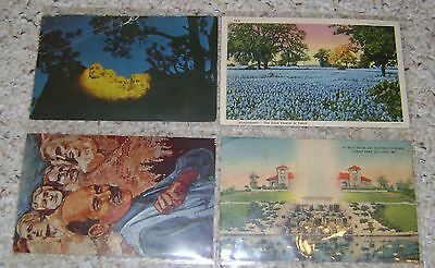 Vintage POSTCARD LOT OF 4 Includes 2 of MT. RUSHMORE Cool Cards!  FREE Shipping!