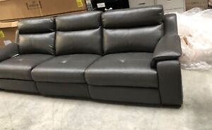 Leather couch large luxurious recliner new