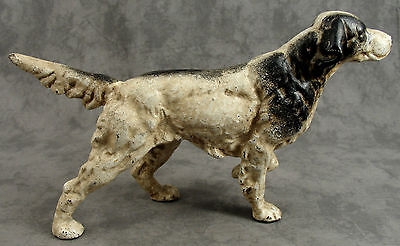 ENGLISH SETTER POINTER HUNTING DOG Cast Iron HEAVY DOORSTOP STATUE