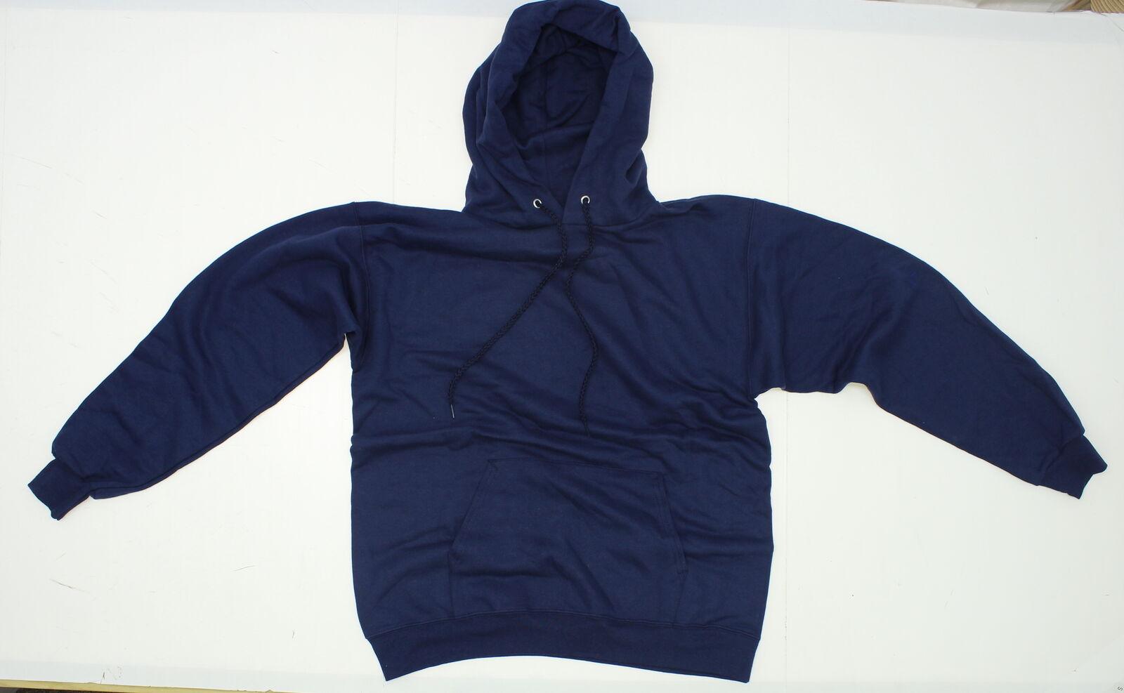 nEW Hanes Ultimate Cotton Mens Hoodie Hooded Sweatshirt Blue