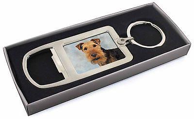Welsh Terrier Dog Chrome Metal Bottle Opener Keyring in Box Gift Idea, AD-WT1MBO