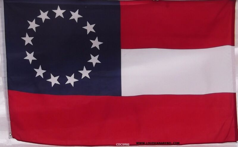 FIRST NATIONAL - DIXIE FLAG - NEW CIVIL WAR - 1ST - DIXIE - 13  STARS & BARS
