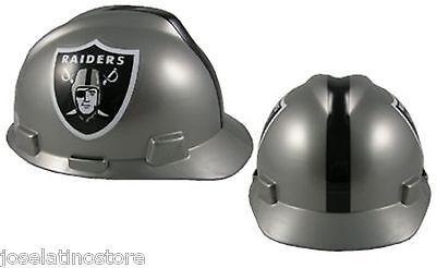 MSA V-Gard Cap Type Oakland Raiders NFL Hard Hat Type 3 Ratchet  Suspension