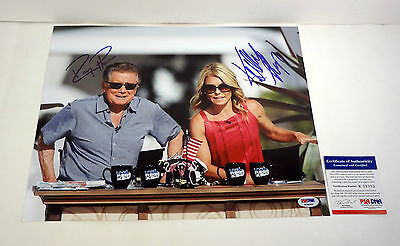 Regis Philbin   Kelly Ripa Live With Signed Autograph 11X14 Photo Psa Dna Coa
