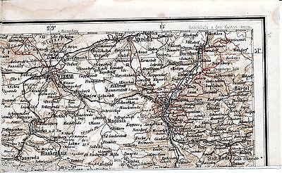 Jena Weimar Apolda 1888 Teilkarte/Ln. Dornburg Bürgel Stadtroda Tannroda Magdala