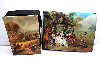 Vintage Italian Silk Wallet and Cigarette Case Signed A Antinori ROMA on Lookza
