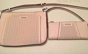 Guess Cross Body  Purse and matching wallet(Soft Pink)