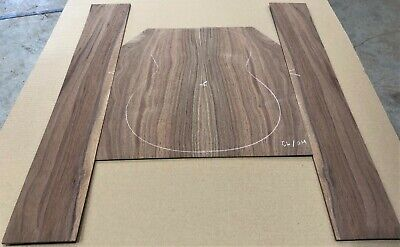 Nice Claro Walnut Jumbo acoustic guitar back and side set #42320-7