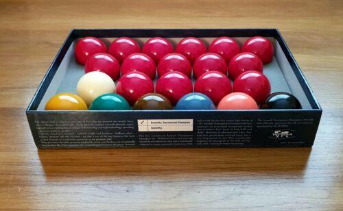 Aramith Tournament Champion Snooker Balls Professional Set Full Size