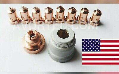 Plasma Cutter Ptm-80 Pt-80 Torch Shielded Consumable 18 Pcs Fits Everlast 80s