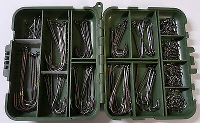 Sea Fishing Hooks Bulk x100 + 40 Free Swivels + Free Loc Tight Tackle Box