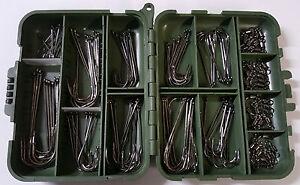 Sea Fishing Hooks Bulk x100 + 40 Free Swivels + Free Loc Tight Tackle Box