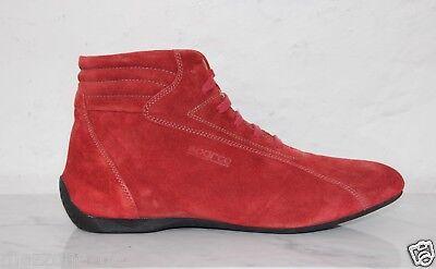 Fahren Schuhe High Top (☆ SPARCO Fahrerschuhe, Sneaker Racing Leder MONZA rot Gr. 46 OVP 169€ ☆ Ferrari)