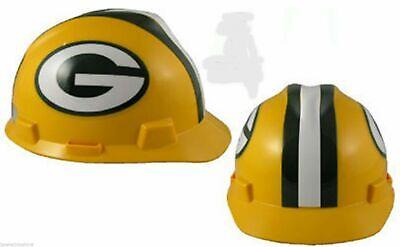 "NEW MSA V-Gard Cap Type Green Bay Packers NFL Hard Hat ""RATCHET"" Suspension"