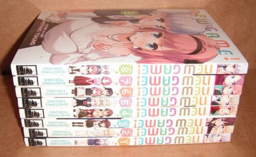 New Game! Vol. 1,2,3,4,5,6,7,8 Manga Graphic Novels Set English