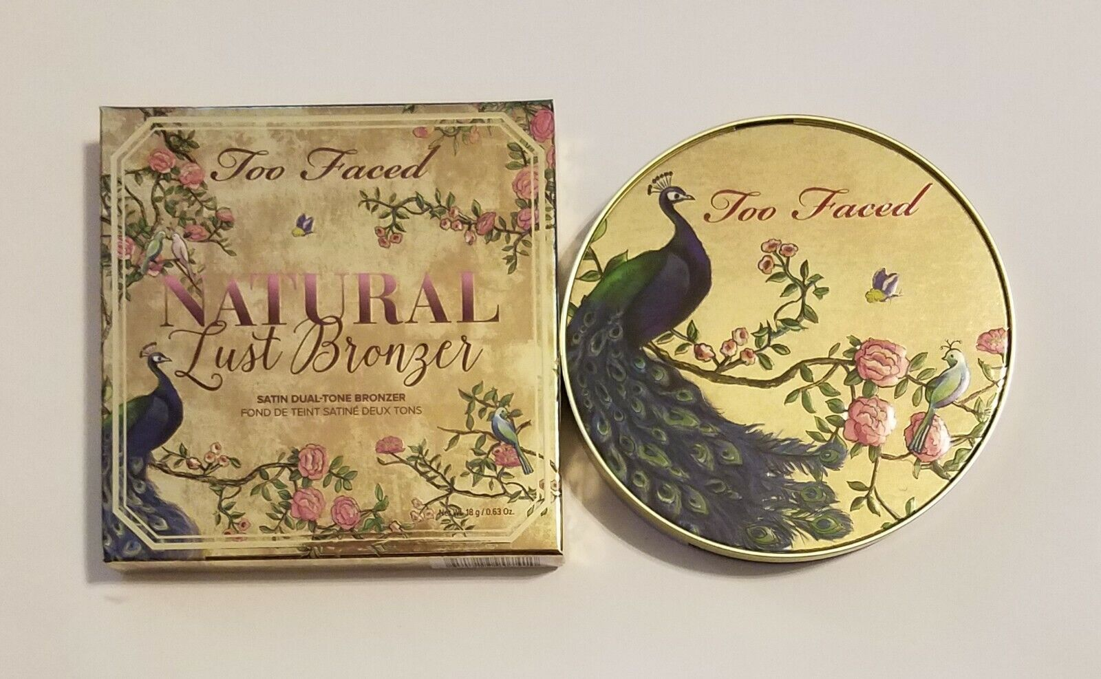 Too Faced Natural Lust Duo Bronzer Peacock JUMBO Sized Compa