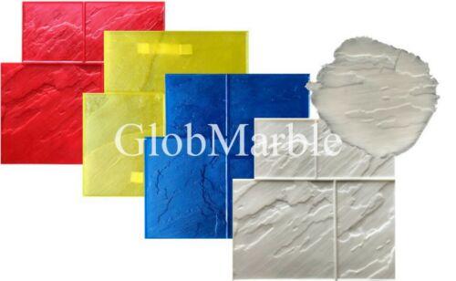 5 Pc Set Ashlar Concrete Stamp SM3004 GlobMarble Slate Stone Texture Stamp Mats