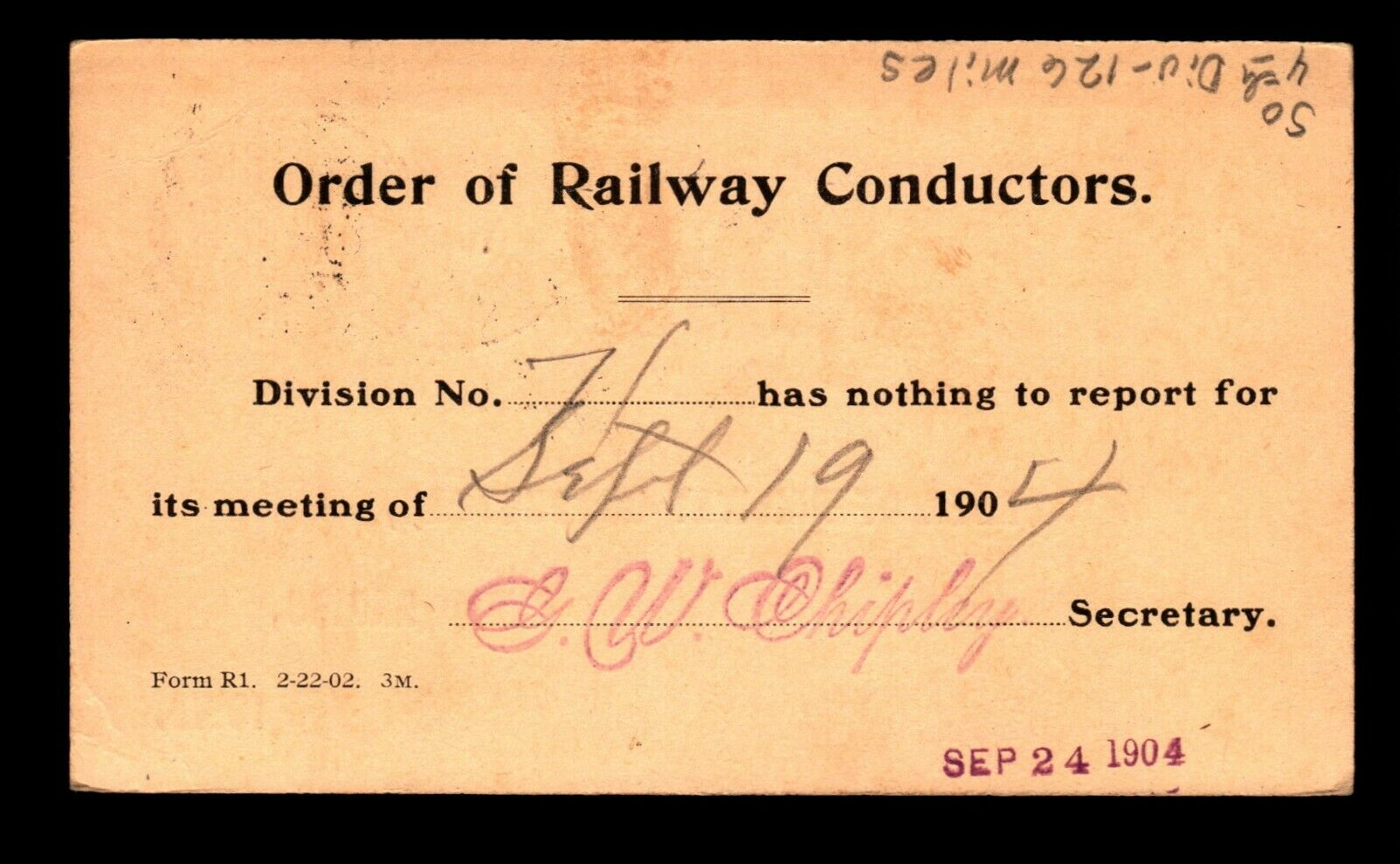 1904 Atlanta COL RPO Card - L19486 - $3.98