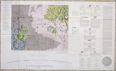 USGS APOLLO HEVELIUS REGION LUNAR GEOLOGIC MAP, Vintage 1967, I-491 Scarce