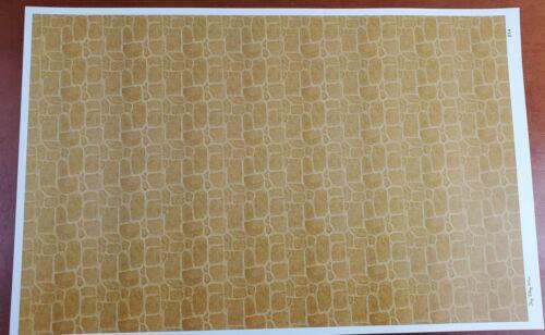 Dollhouse Tile Wallpaper Flooring Brown Cobblestone Stones 1:12 Scale Itsy Bitsy