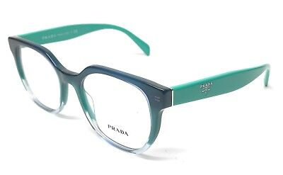 New Prada VPR 02U VX6-1O1 Green Gradient Women Authentic Eyeglasses Frame 50-17
