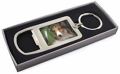 Shetland Sheepdog 'Love You Grandma' Chrome Metal Bottle Opener K, AD-SE34lygMBO
