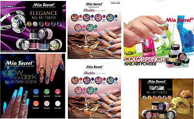 Mia Secret Nail Art Acrylic Collection Powder 6 Colors Set - CHOOSE YOUR SET
